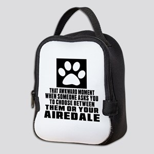 Airedale Awkward Dog Designs Neoprene Lunch Bag
