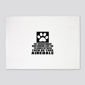 Airedale Awkward Dog Designs 5'x7'Area Rug
