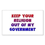 Keep Your Religion Out Of My Sticker (Rectangular
