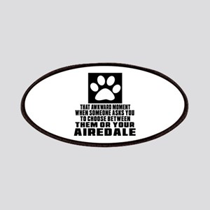 Airedale Awkward Dog Designs Patch