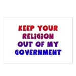 Keep Your Religion Out Of My Postcards (Package o