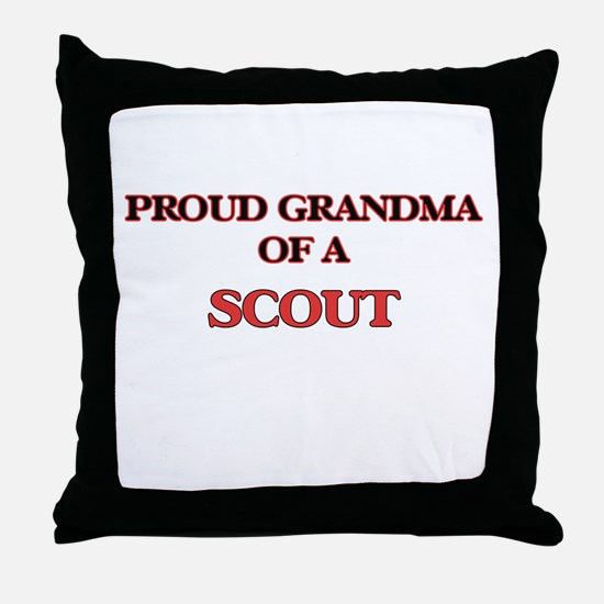 Proud Grandma of a Scout Throw Pillow