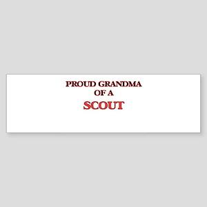 Proud Grandma of a Scout Bumper Sticker