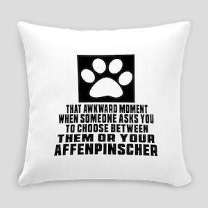Affenpinscher Awkward Dog Designs Everyday Pillow
