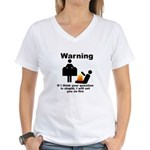 If Your Question Is Stupid... Women's V-Neck T-Shi