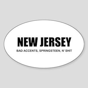 NJ N' SHIT Oval Sticker