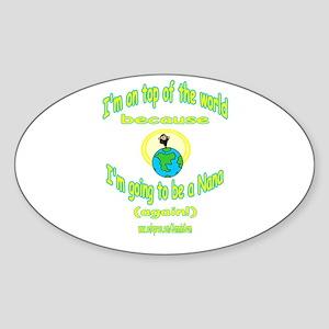 NANA AGAIN Oval Sticker