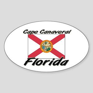 Cape Canaveral Florida Oval Sticker