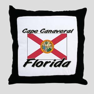 Cape Canaveral Florida Throw Pillow
