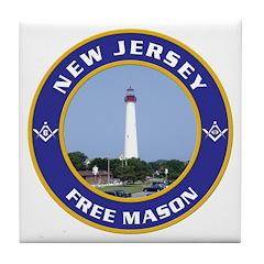 New Jersey Freemason Tile Coaster