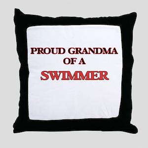 Proud Grandma of a Swimmer Throw Pillow