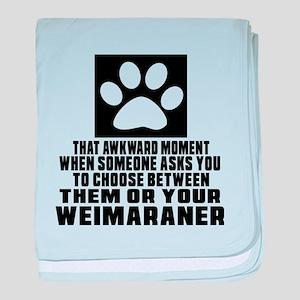 Weimaraner Awkward Dog Designs baby blanket