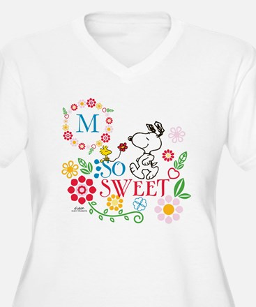 Snoopy Flowers Mo T-Shirt