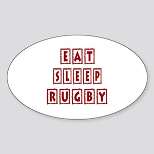 Eat Sleep Rugby Sticker (Oval)