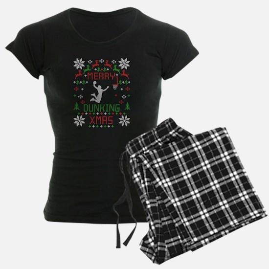 Cute Basketball christmas Pajamas