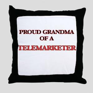 Proud Grandma of a Telemarketer Throw Pillow