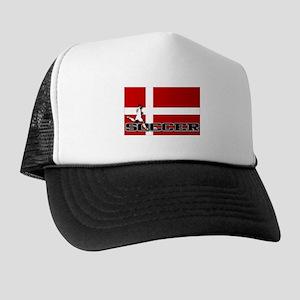 Denmark Flag Soccer Trucker Hat