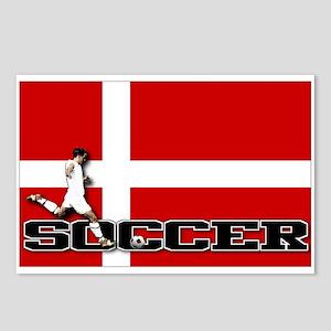 Denmark Flag Soccer Postcards (Package of 8)