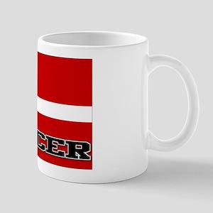 Denmark Flag Soccer Mug
