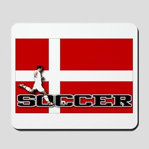 Denmark Flag Soccer Mousepad