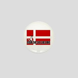 Denmark Flag Soccer Mini Button