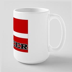 Denmark Flag Soccer Large Mug