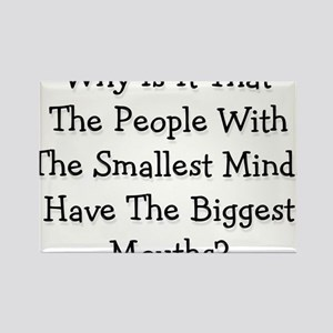 smallest minds Rectangle Magnet