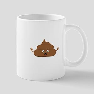 Frightened poo Mugs