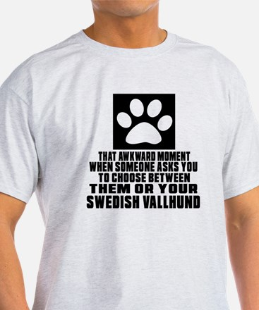 Swedish Vallhund Awkward Dog Designs T-Shirt