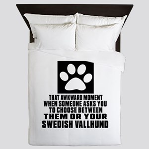 Swedish Vallhund Awkward Dog Designs Queen Duvet
