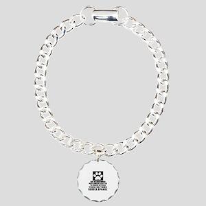 Sussex Spaniel Awkward D Charm Bracelet, One Charm