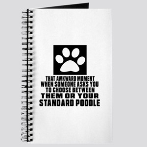 Standard Poodle Awkward Dog Designs Journal