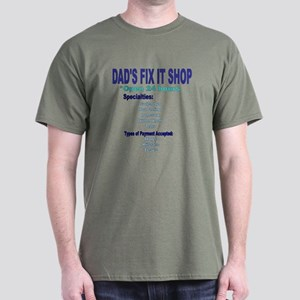 Dads Fix it Shop Dark T-Shirt