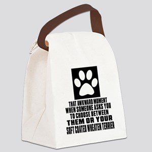 Soft Coated Wheaten Terrier Awkwa Canvas Lunch Bag