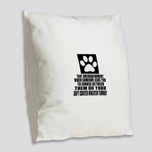 Soft Coated Wheaten Terrier Aw Burlap Throw Pillow
