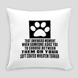 Soft Coated Wheaten Terrier Awkwar Everyday Pillow