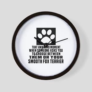 Smooth Fox Terrier Awkward Dog Designs Wall Clock