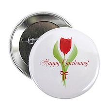 "Cute Watercolor Tulip Gardener 2.25"" Button"