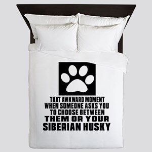 Siberian Husky Awkward Dog Designs Queen Duvet