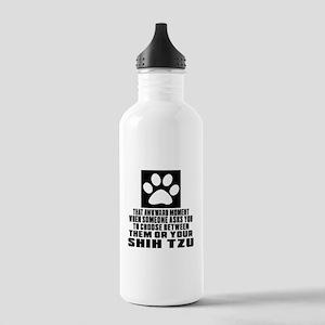 Shih Tzu Awkward Dog D Stainless Water Bottle 1.0L