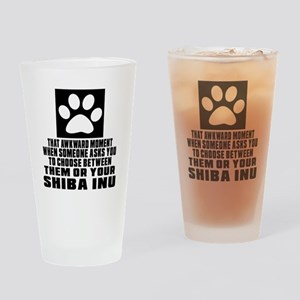 Shiba Inu Awkward Dog Designs Drinking Glass