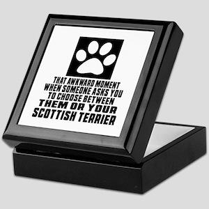 Scottish Terrier Awkward Dog Designs Keepsake Box