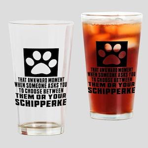 Schipperke Awkward Dog Designs Drinking Glass