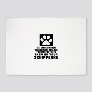 Schipperke Awkward Dog Designs 5'x7'Area Rug