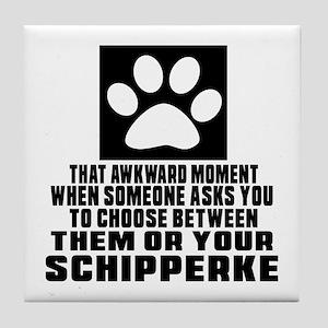 Schipperke Awkward Dog Designs Tile Coaster