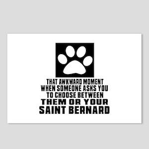 Saint Bernard Awkward Dog Postcards (Package of 8)