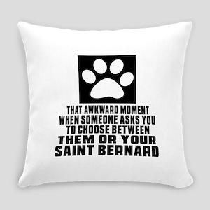 Saint Bernard Awkward Dog Designs Everyday Pillow