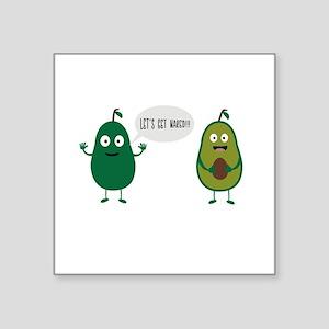 crazy avocado undresses Sticker