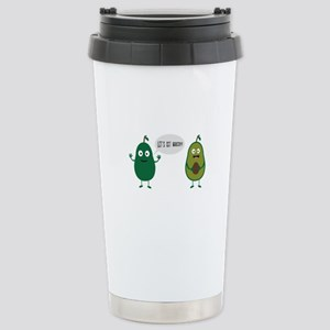 crazy avocado undresses Stainless Steel Travel Mug