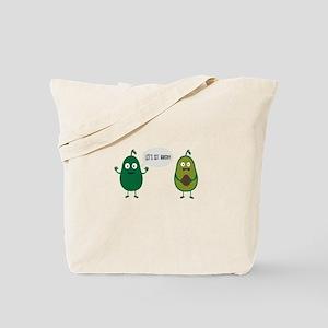 crazy avocado undresses Tote Bag
